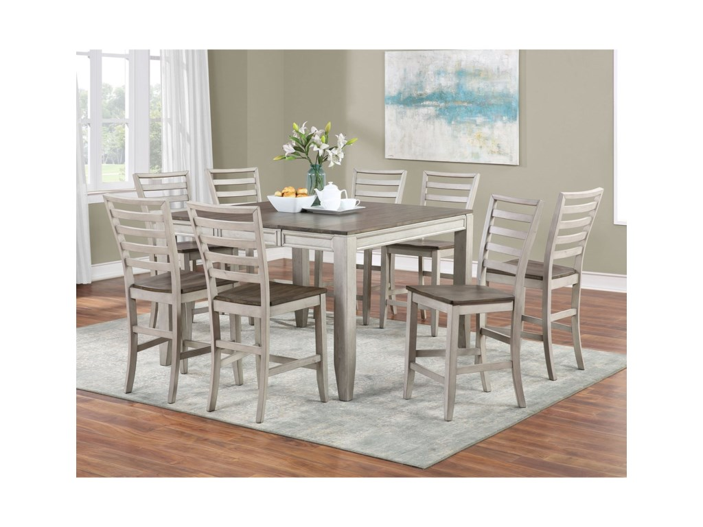 Steve Silver Abacus9-Piece Counter Table and Chair Set