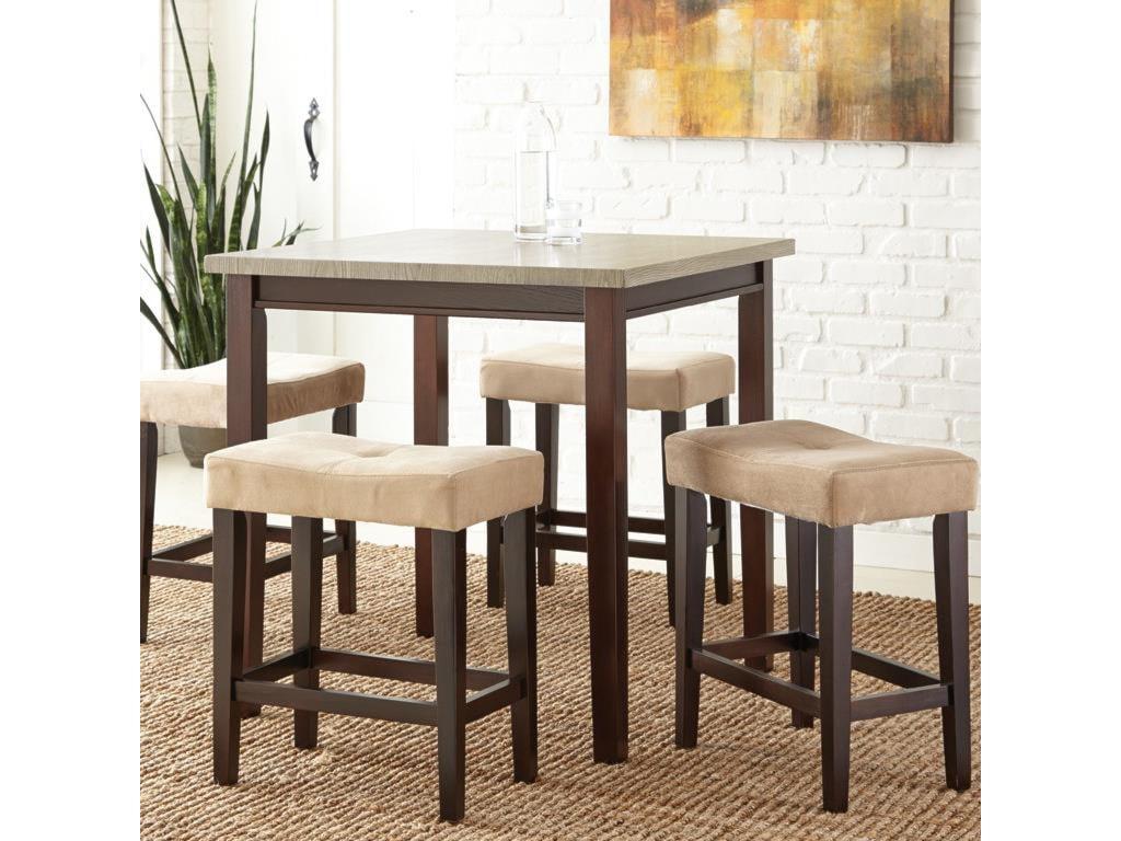 Vendor 3985 Aberdeen5 Piece Counter Table Set