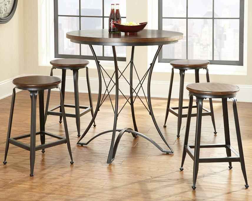 industrial counter height table. Steve Silver Adele Industrial Counter Height Dining Set With Metal Bases Table