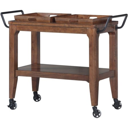 Draper Hill Dining Cart with Trays