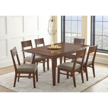 Table and Upholstered Side Chairs