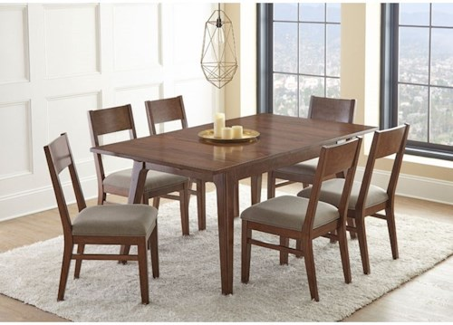 Steve Silver Adeline Drop Leaf Table and Upholstered Dining Side Chairs