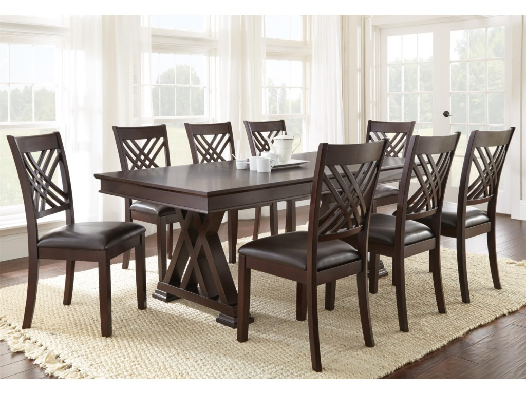 Vendor 3985 Adrian9 Piece Table & Chair Set