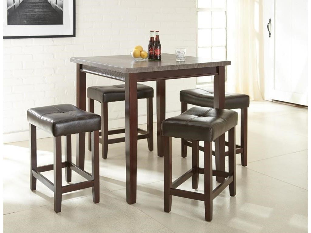 Morris Home AgeanaAgeana 5-Piece Counter Height Dining Set