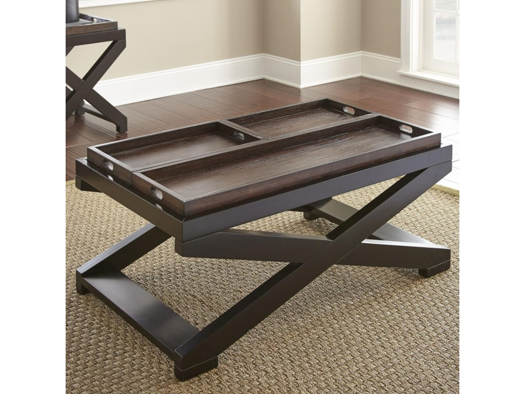Morris Home AlanisCocktail Table w/Tray