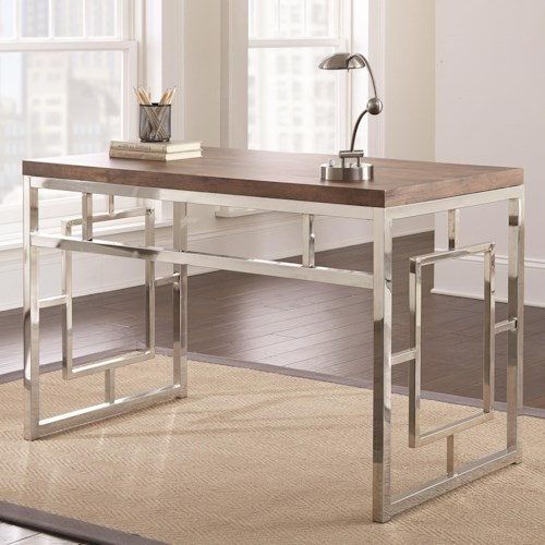 Steve Silver Alize Contemporary Desk with Chrome Base