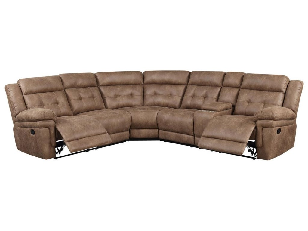Morris Home Allan Allan Reclining Sectional Sofa