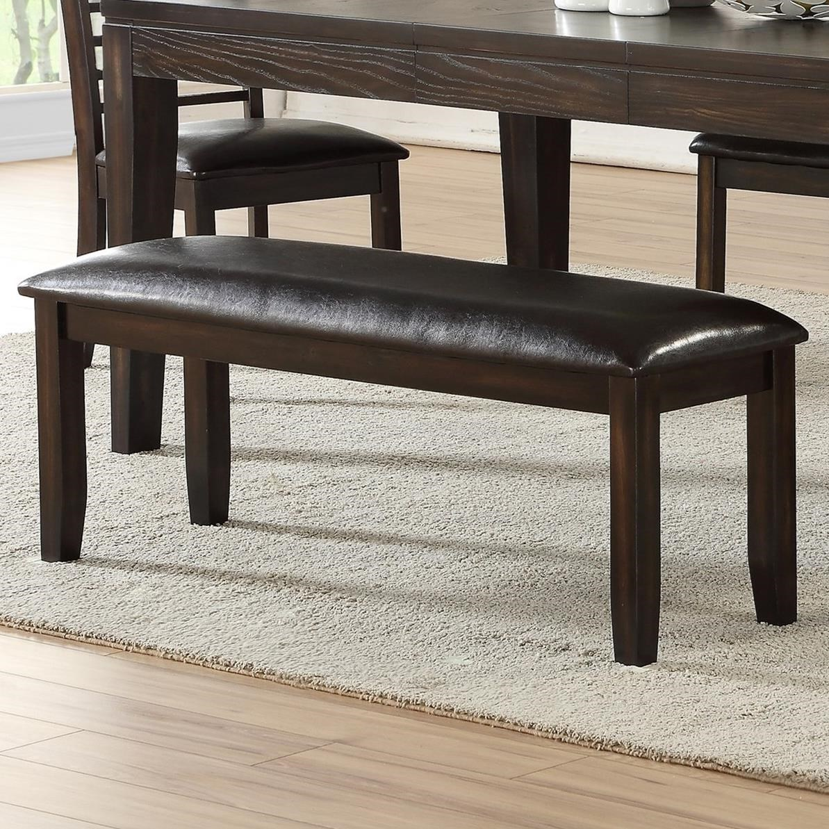 Dining Bench with PU Upholstered Seat