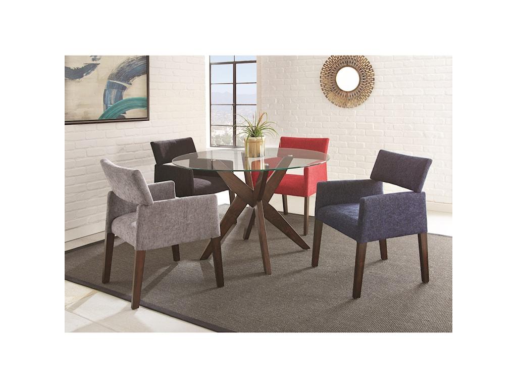 Steve Silver AmalieFive Piece Chair & Table Set
