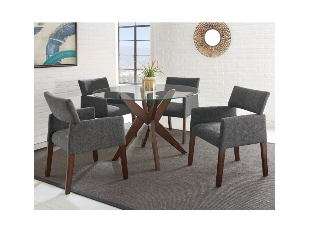 Steve Silver AmalieFive Piece Chair & Table Set