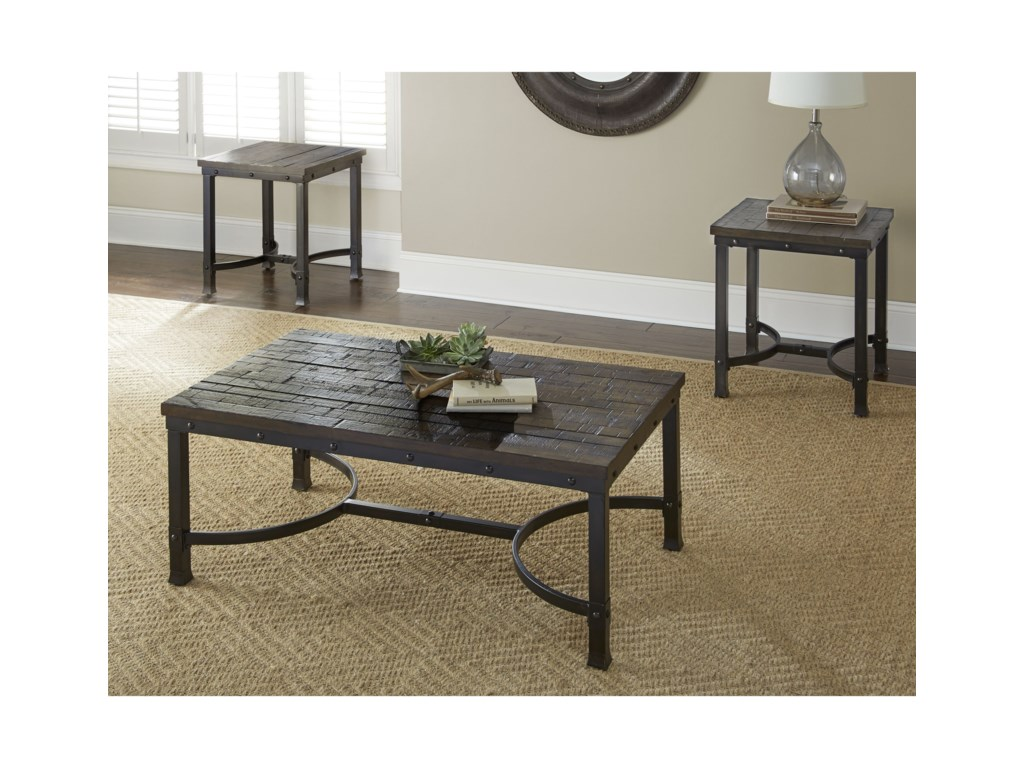 Morris Home AmbroseIndustrial Square End Table
