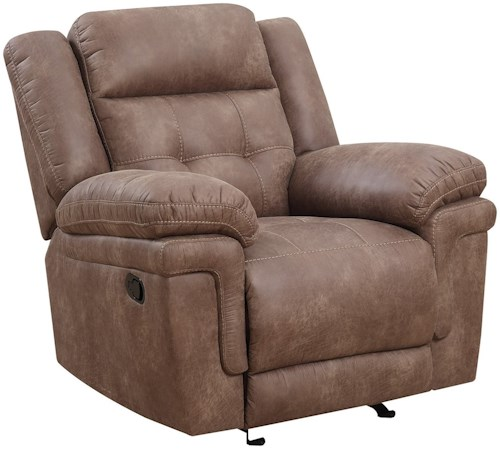 Steve Silver Anastasia Glider Reclining Chair with Tufted Back