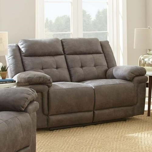 Steve Silver Anastasia Reclining Love Seat with Tufted Back
