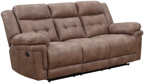 Steve Silver Anastasia Casual Reclining Sofa with Tufted Back