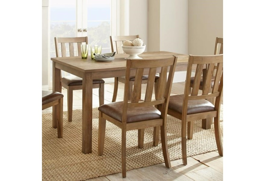 Steve Silver Ander Casual Dining Table with Block Legs | Wayside