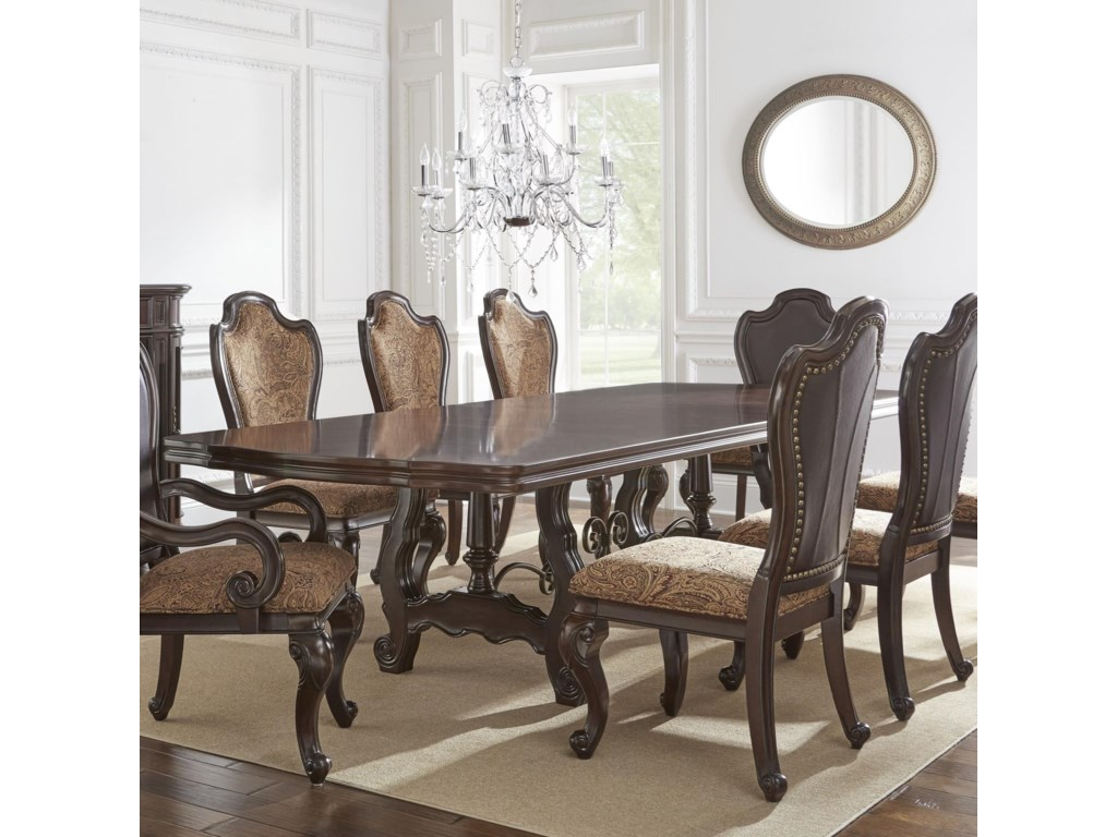 Steve Silver AngelinaDouble Pedestal Dining Table