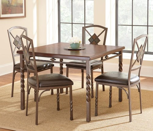 Steve Silver Annabella 5 Piece Dining Set with Spun Legs