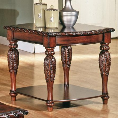 Steve Silver Antoinette Traditional Rich Brown 1-Shelf End Table