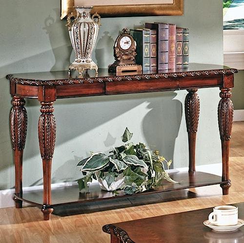 Steve Silver Antoinette Traditional 1-Shelf 1-Drawer Sofa Table