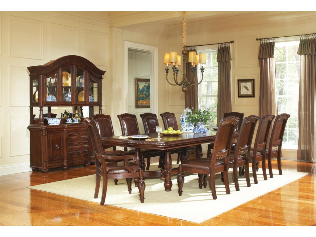 Steve Silver Antoinette Traditional Rich Brown Buffet Hutch Set Wayside Furniture China Cabinets