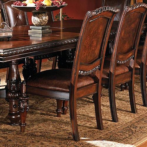 Steve Silver Antoinette Traditional Upholstered Dining Side Chair