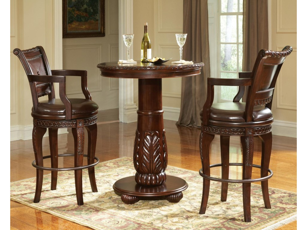 Shown in 3-Piece Pub Table Set