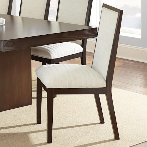 Steve Silver Antonio Side Chair with Beige Chenille Upholstery