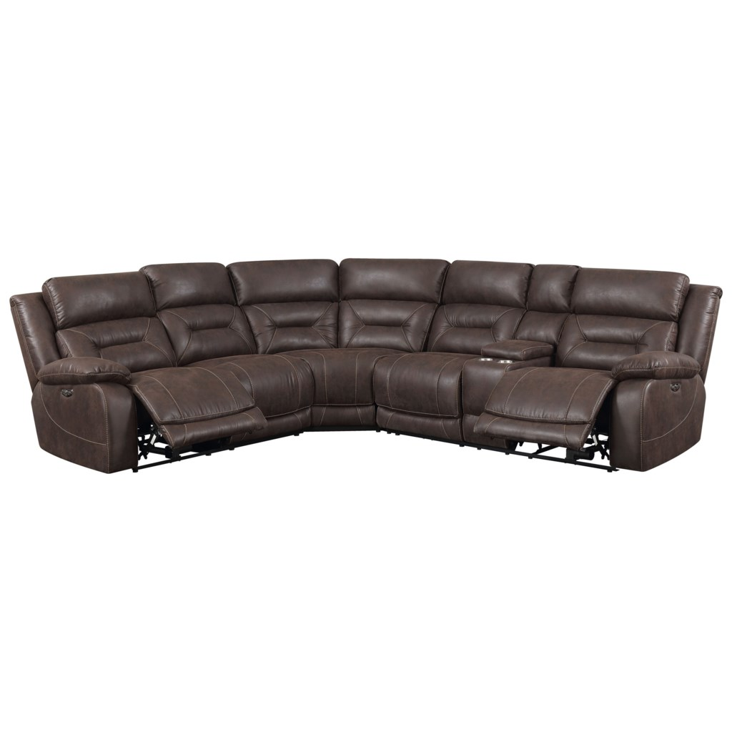 Steve Silver Aria 3 Piece Reclining Sectional Sofa With Usb Port