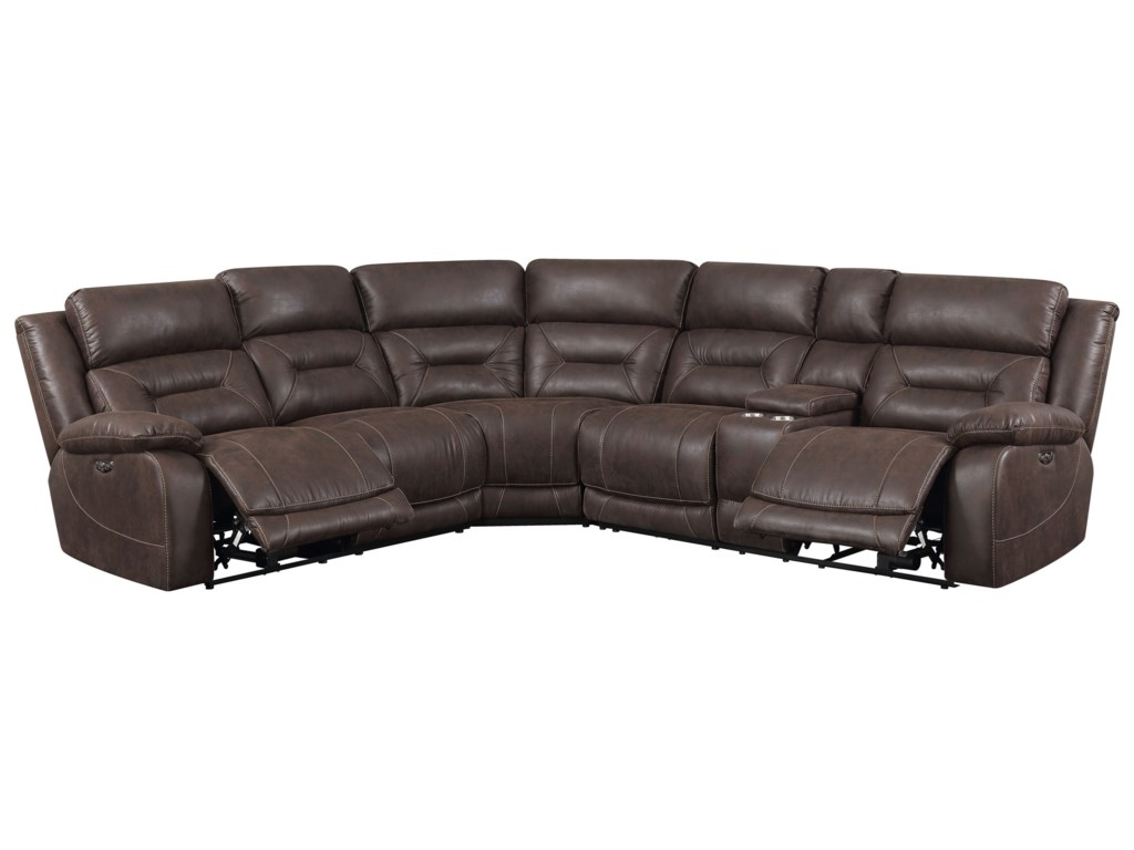 Morris Home Aria3 Piece Reclining Sectional Sofa