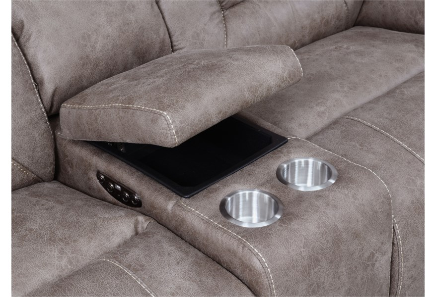 Aria 3 Piece Reclining Sectional Sofa with USB Port by Steve Silver at  Northeast Factory Direct
