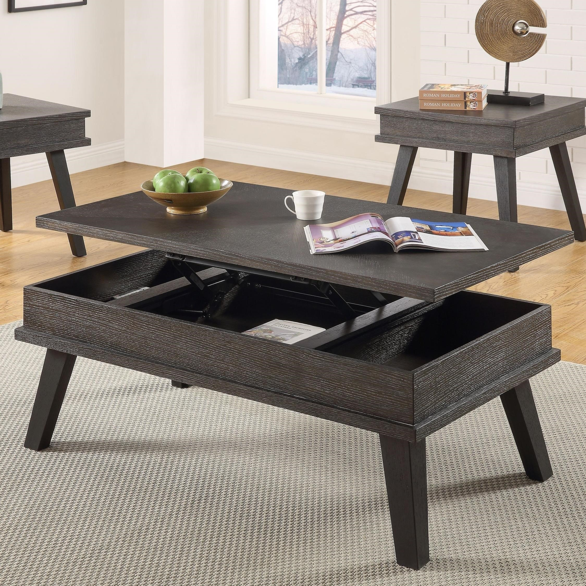 High Quality Steve Silver Bakersfield Contemporary Lift Top Cocktail Table With Splayed  Legs