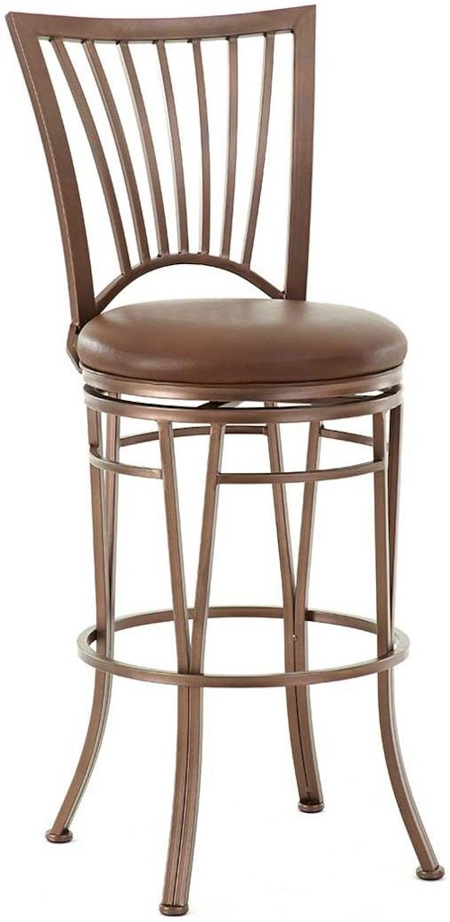 Steve Silver Baltimore Swivel Bar Stool with Slat Back