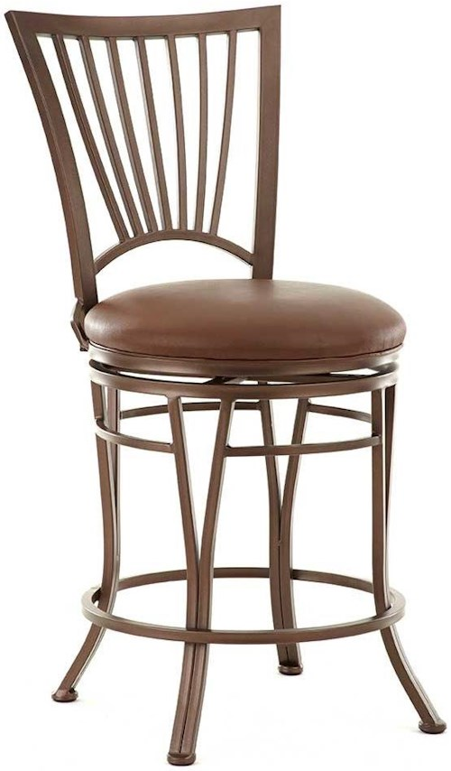 Steve Silver Baltimore Swivel Counter Chair with Slat Back