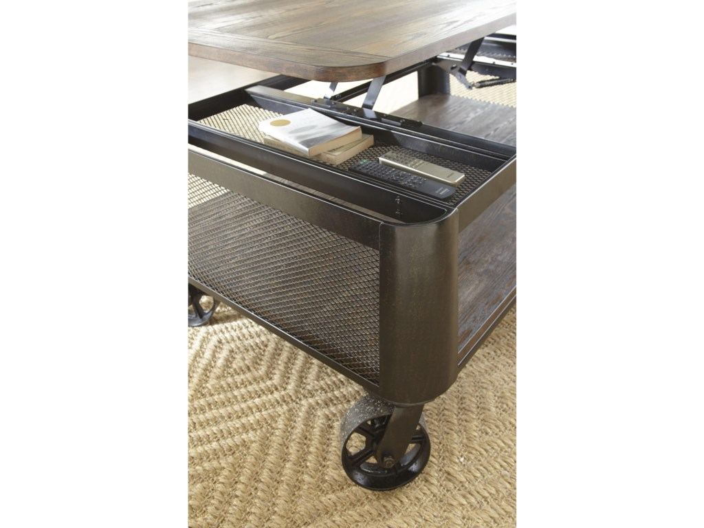 Steve Silver BarrowLift Top Cocktail Table with Casters