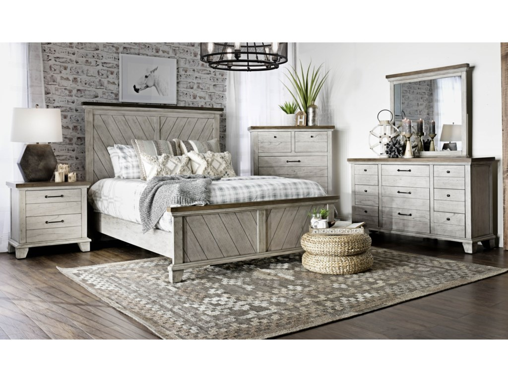 Steve Silver Bear CreekKing Panel Bed