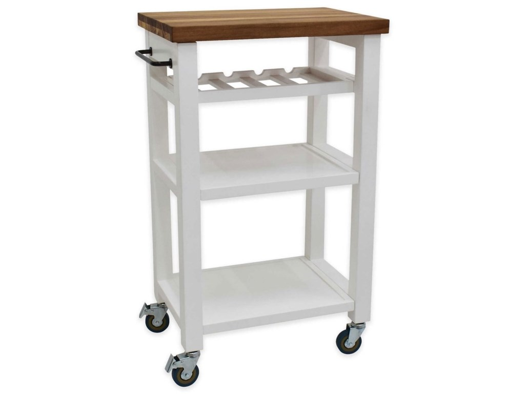 Constructed Of Solid Hardwood And Wood Veneers This Mobile Kitchen Cart Is Designed For Longevity The Handsome Raised Panel Drawer Fronts Provide