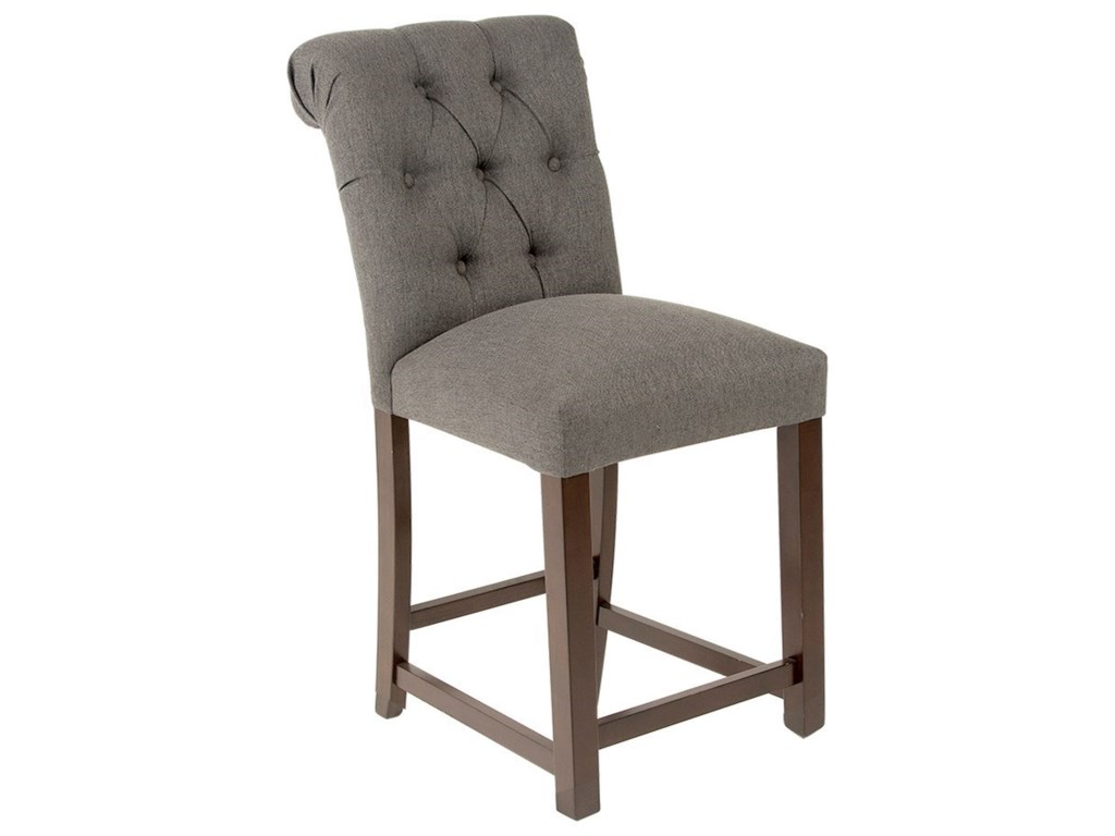 Steve Silver Benson Transitional Tufted Counter Stool