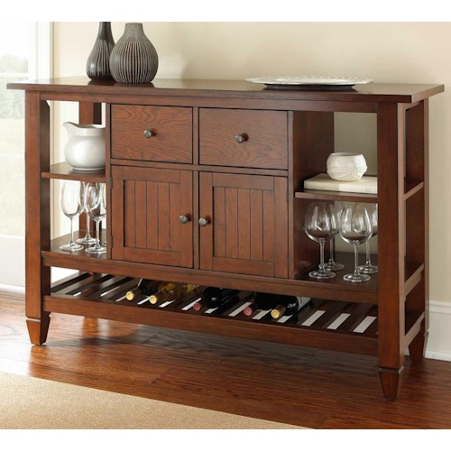 Steve Silver Bolton 2 Drawer Server with 5 Shelves