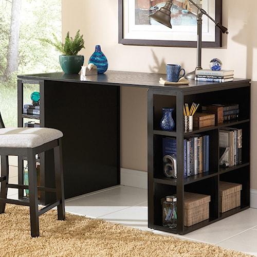 Steve Silver Bradford Contemporary Writing Desk With Side Shelf Storage