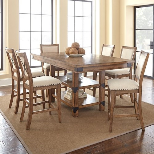 Star Britta Industrial Table And Chair Set Efo Furniture Outlet Dining 7 Or More Piece Sets