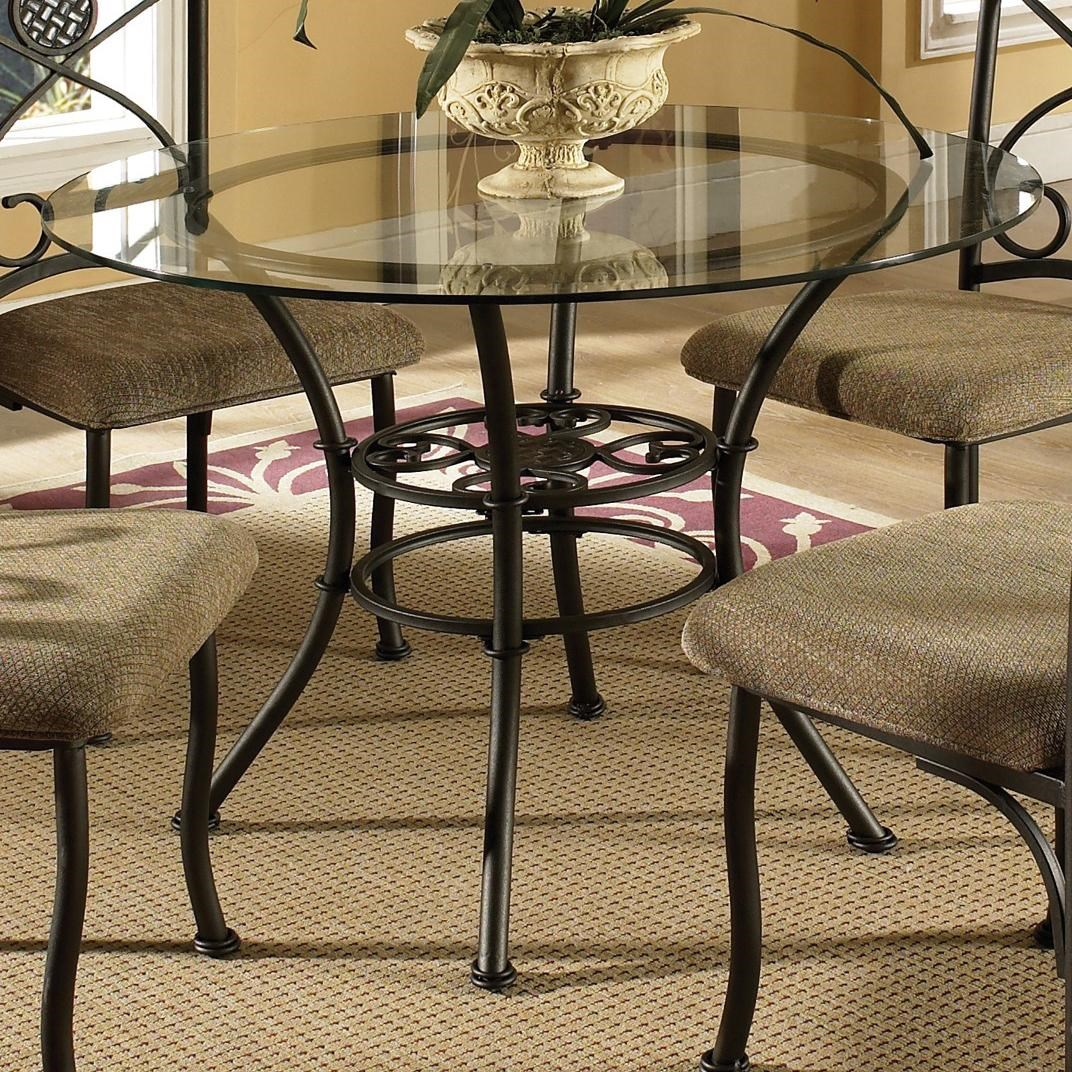 Charming Steve Silver Brookfield Round Table With Tempered Glass Top   Wilsonu0027s  Furniture   Kitchen Table