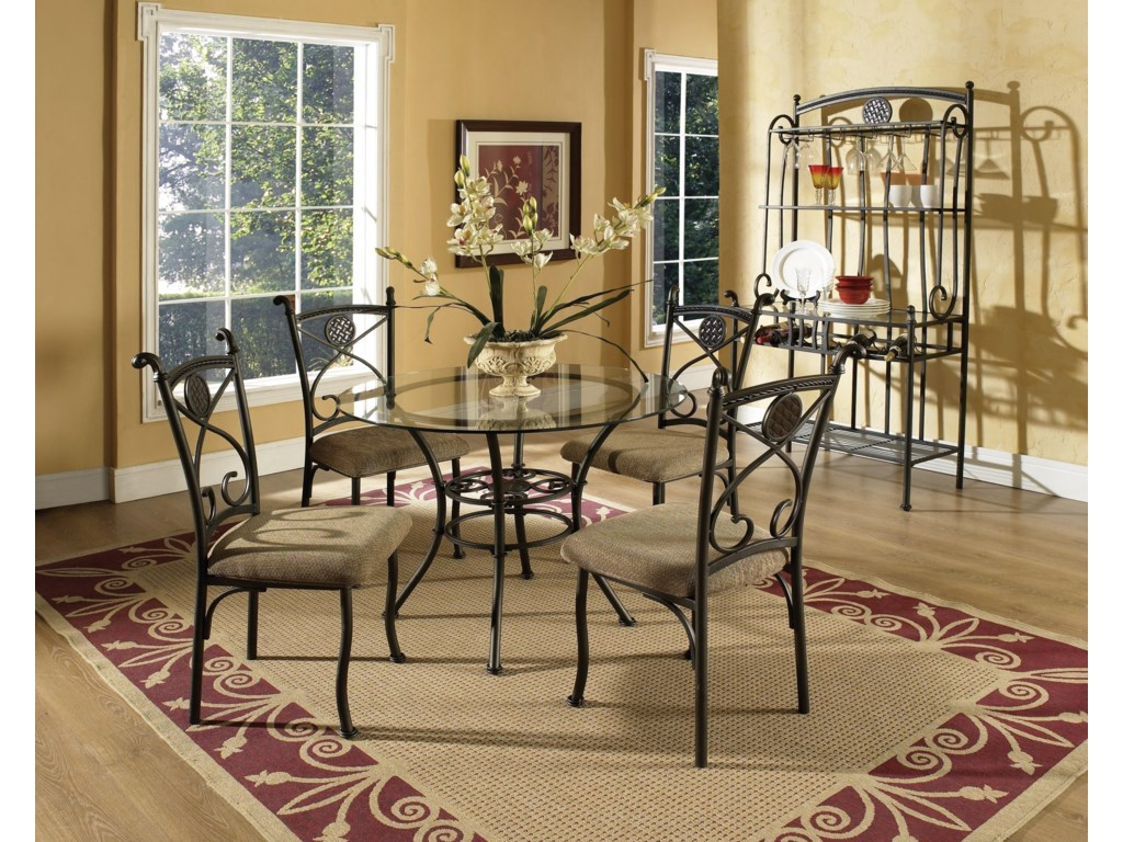Shown with Side Chairs and Baker's Rack