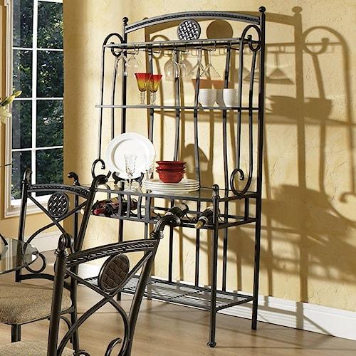 Steve Silver Brookfield Baker's Rack with 3 Shelves