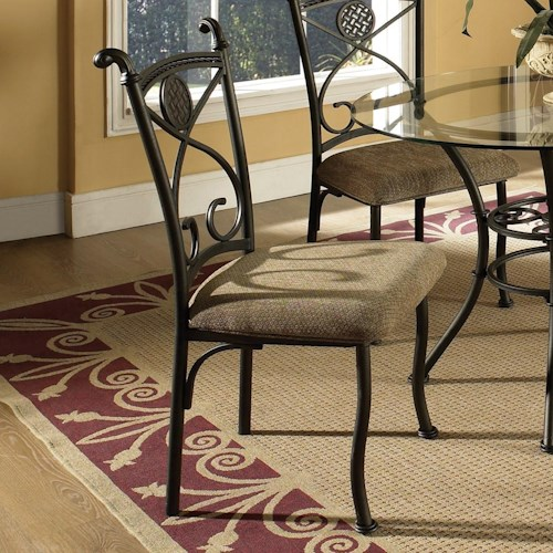 Steve Silver Brookfield Side Chair with Upholstered Seat