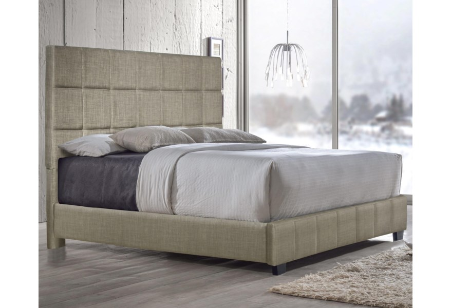 Brooklyn Contemporary Upholstered King Bed by Steve Silver at Standard  Furniture