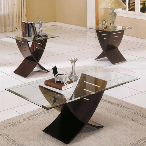 Steve Silver Cafe  3 Pack Occasional Table Group with Glass Top