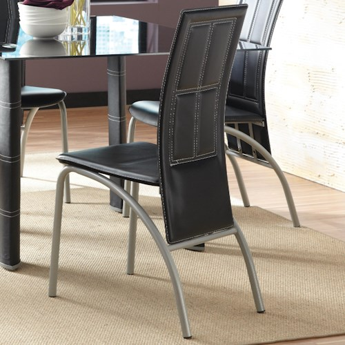 Steve Silver Calvin Upholstered Side Chair with Extended Back