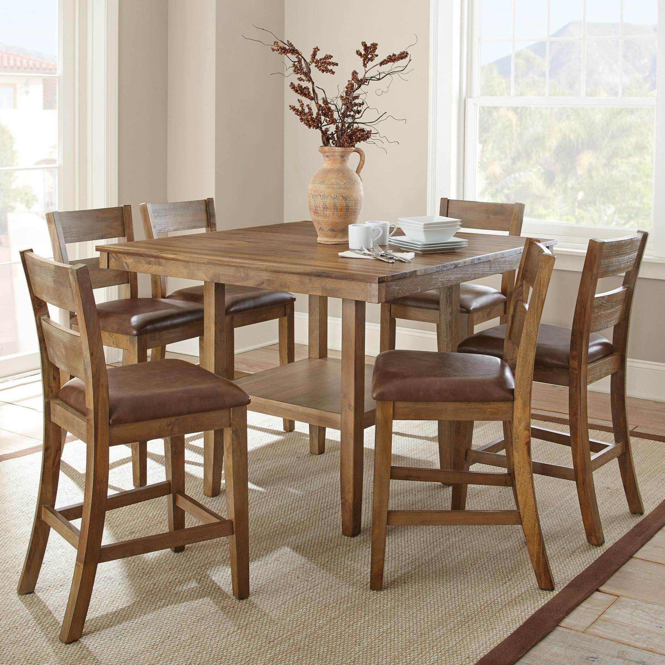 Steve Silver Cambrey Casual Counter Height 7 Piece Dining Set