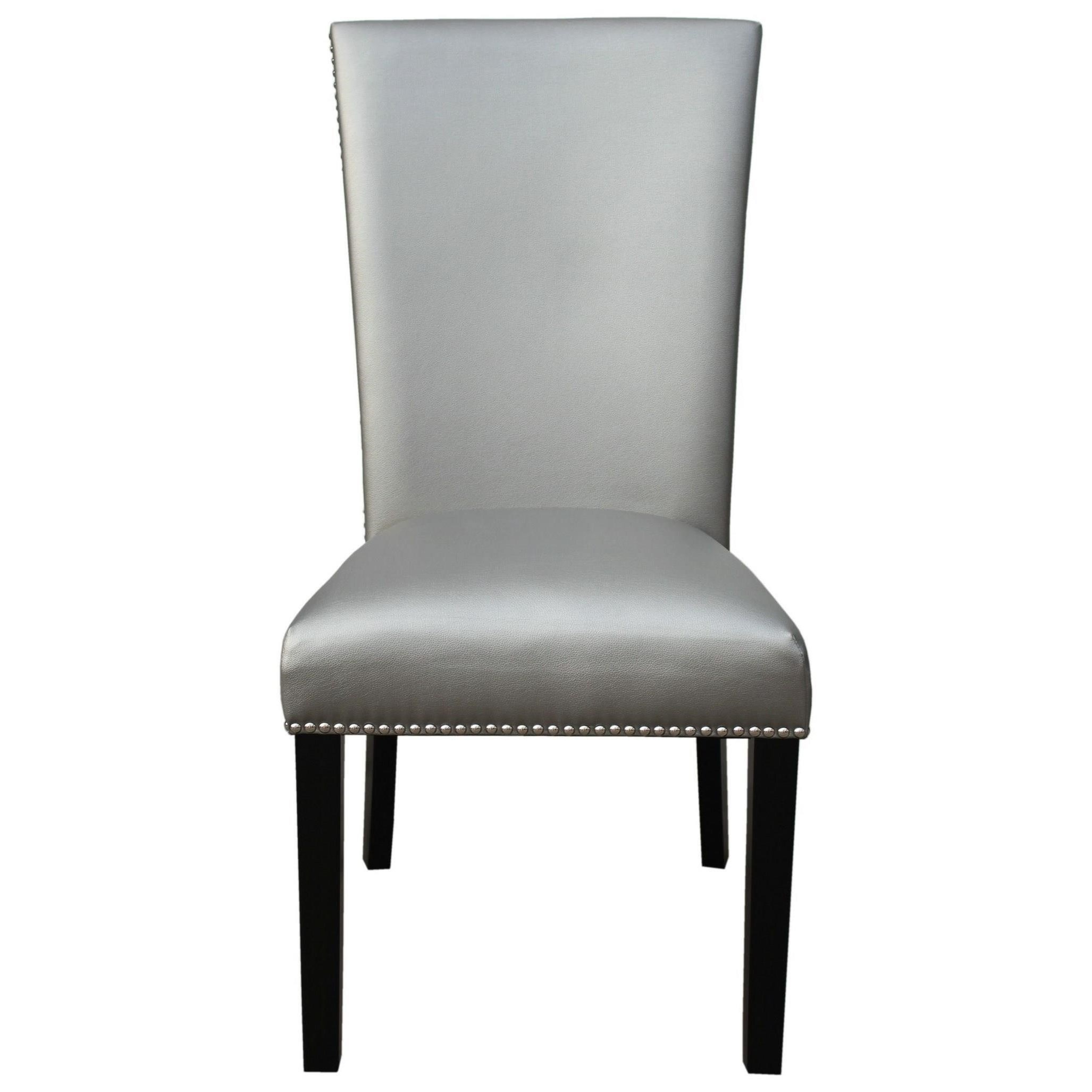 Upholstered Parsons Dining Chair with Nailhead