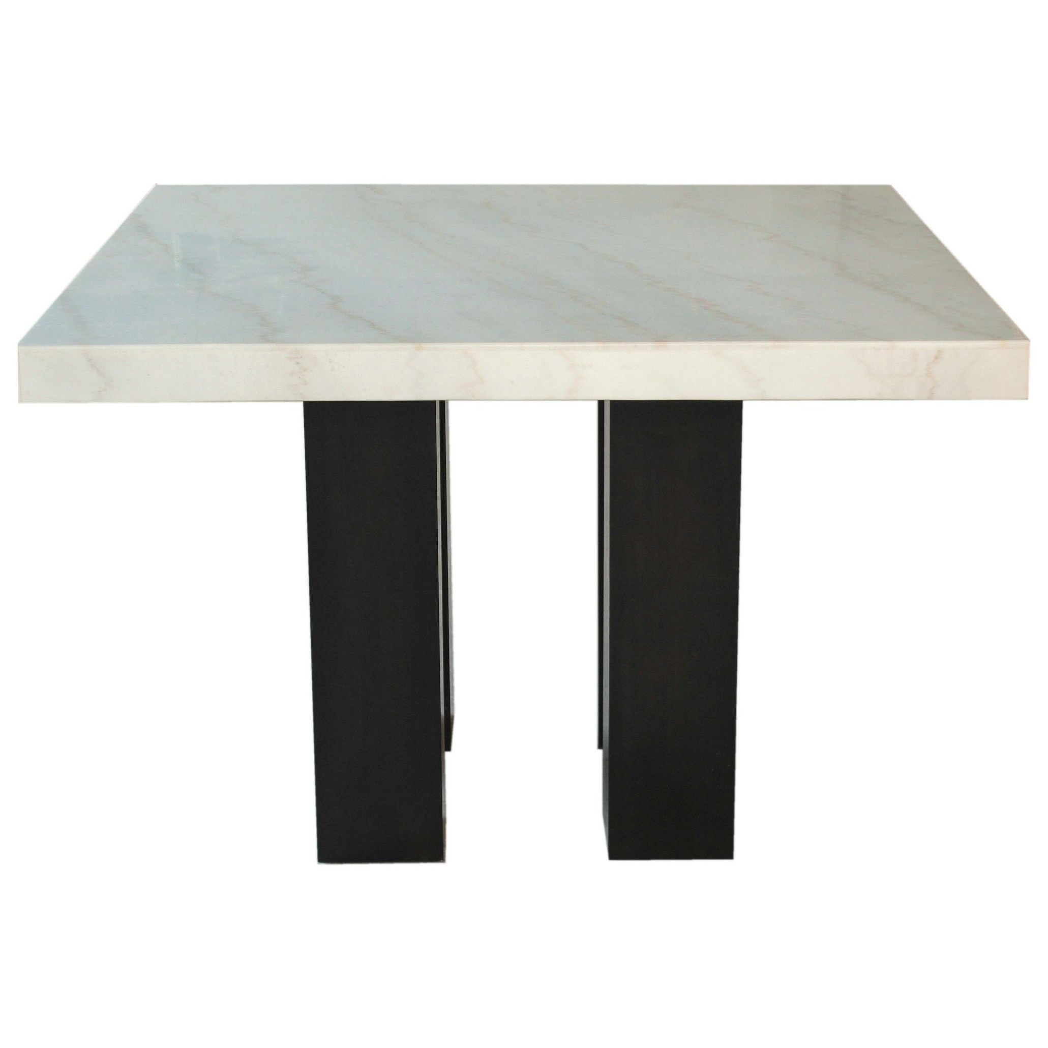 Square Marble Top Dining Table